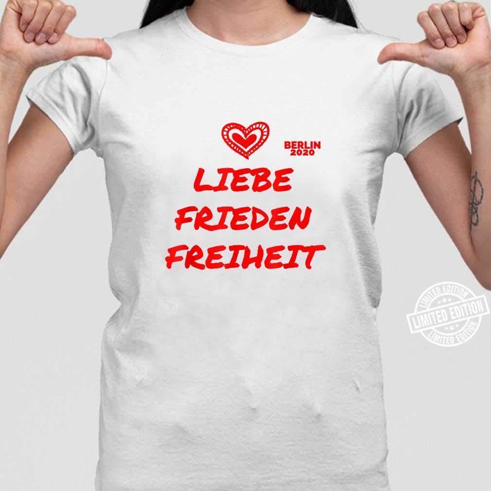 Berlin Demo Deutschland Demonstration Querdenken Liebe Peace Shirt long sleeved