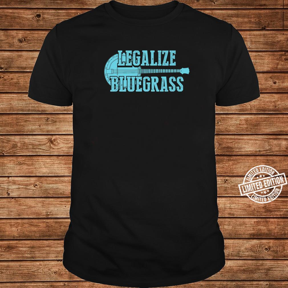 Cool Legalize Bluegrass Banjo Musician Shirt long sleeved