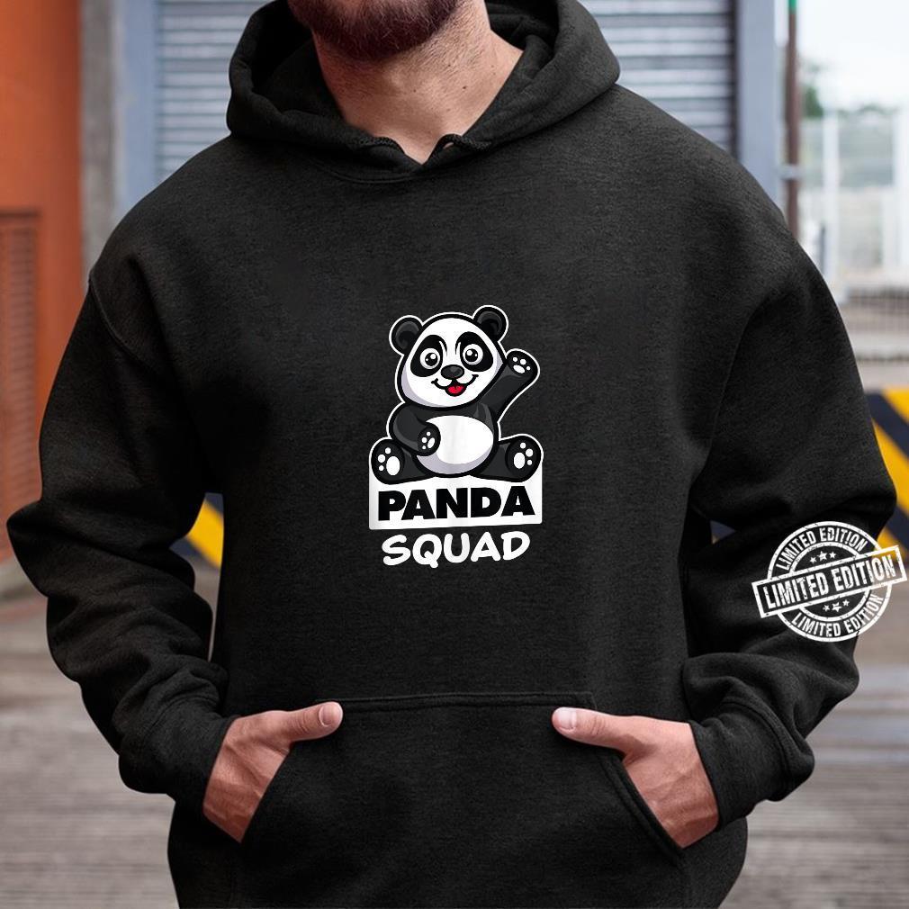 Cool Panda Squad Huge Bear Animal Group Shirt hoodie