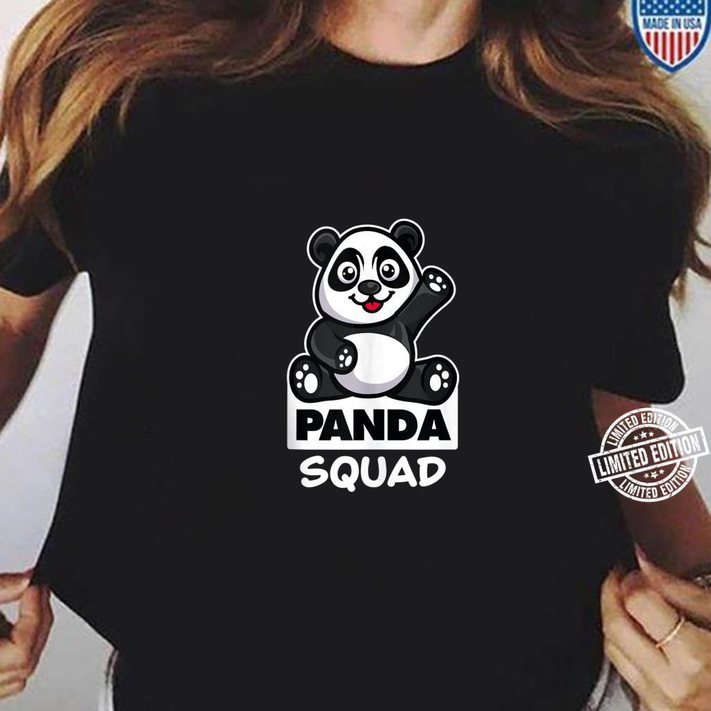 Cool Panda Squad Huge Bear Animal Group Shirt ladies tee