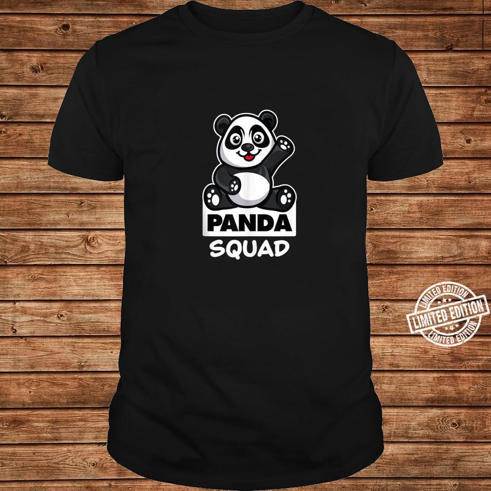 Cool Panda Squad Huge Bear Animal Group Shirt long sleeved