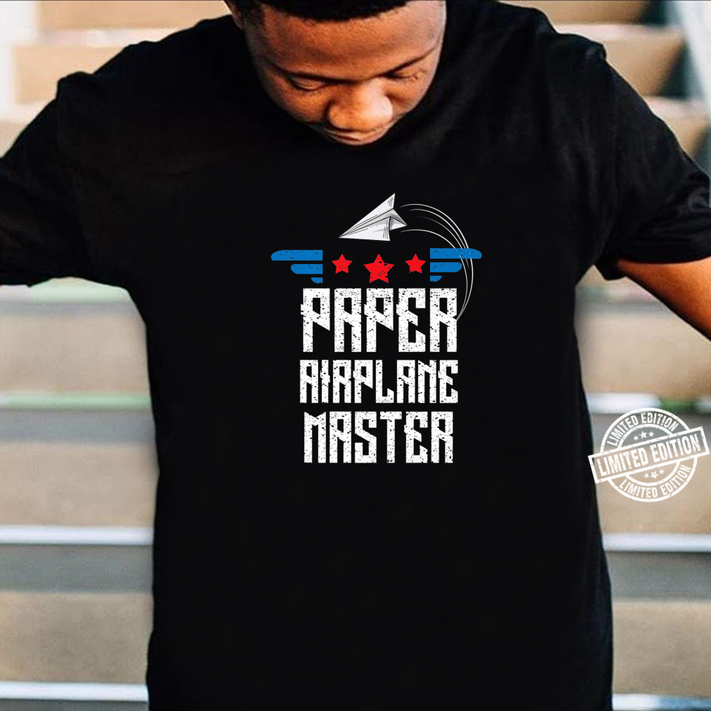 Cool Paper Airplane Master Origami Plane Maker Shirt