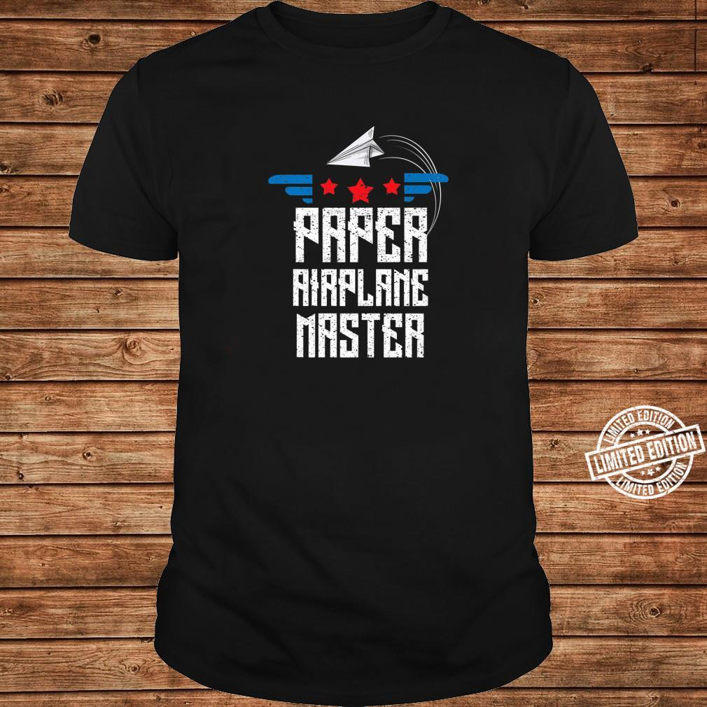 Cool Paper Airplane Master Origami Plane Maker Shirt long sleeved