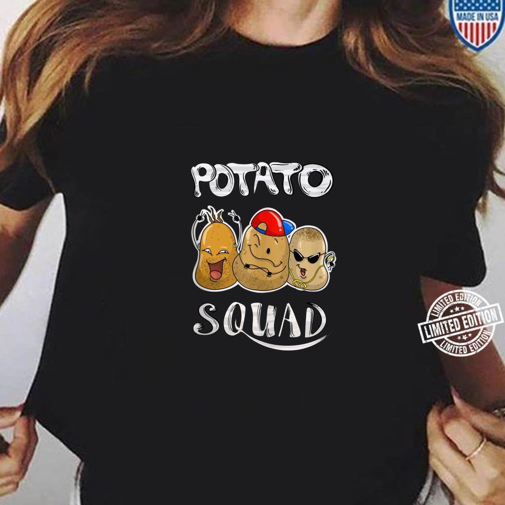 Cool Potato Squad Potatoes Group Eaters Shirt ladies tee