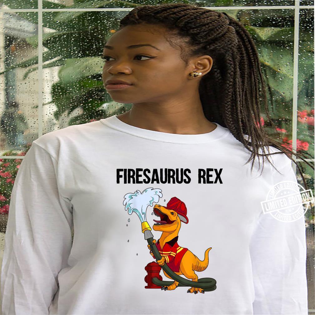 Funny Firemen Firefighter Dino Boys Cool Firesaurus Rex Shirt hoodie