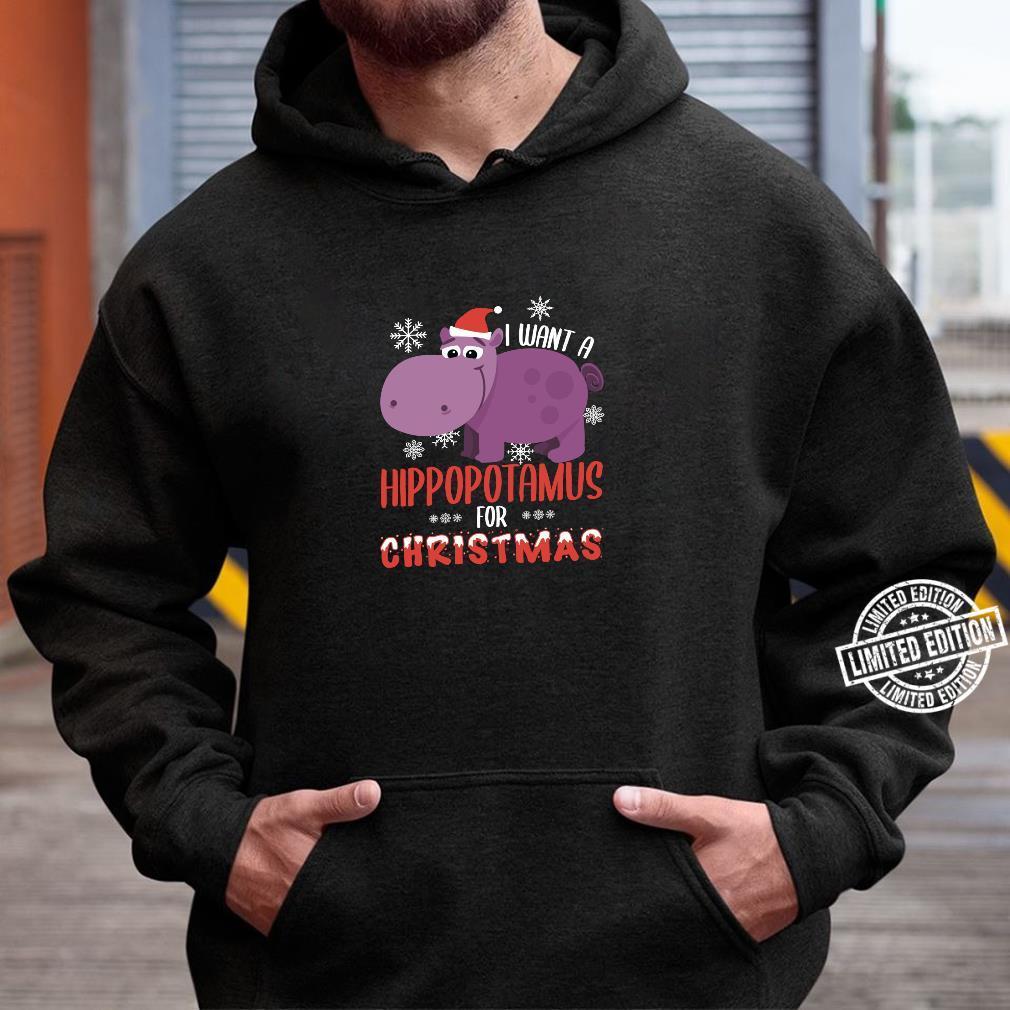 I Want Hippopotamus For Christmas Xmas Hippo Shirt hoodie