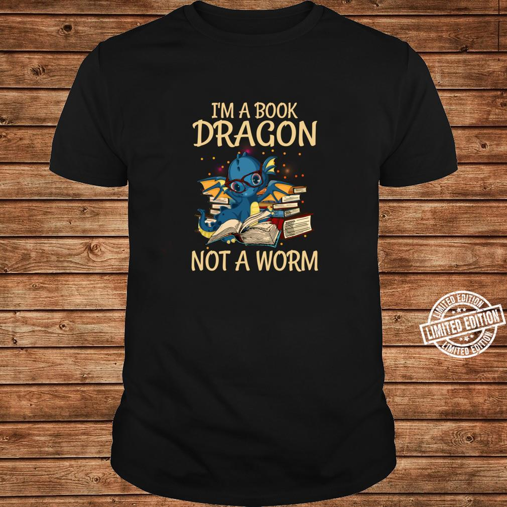 I'm A Book Dragon Not A Worm for Readings Shirt long sleeved