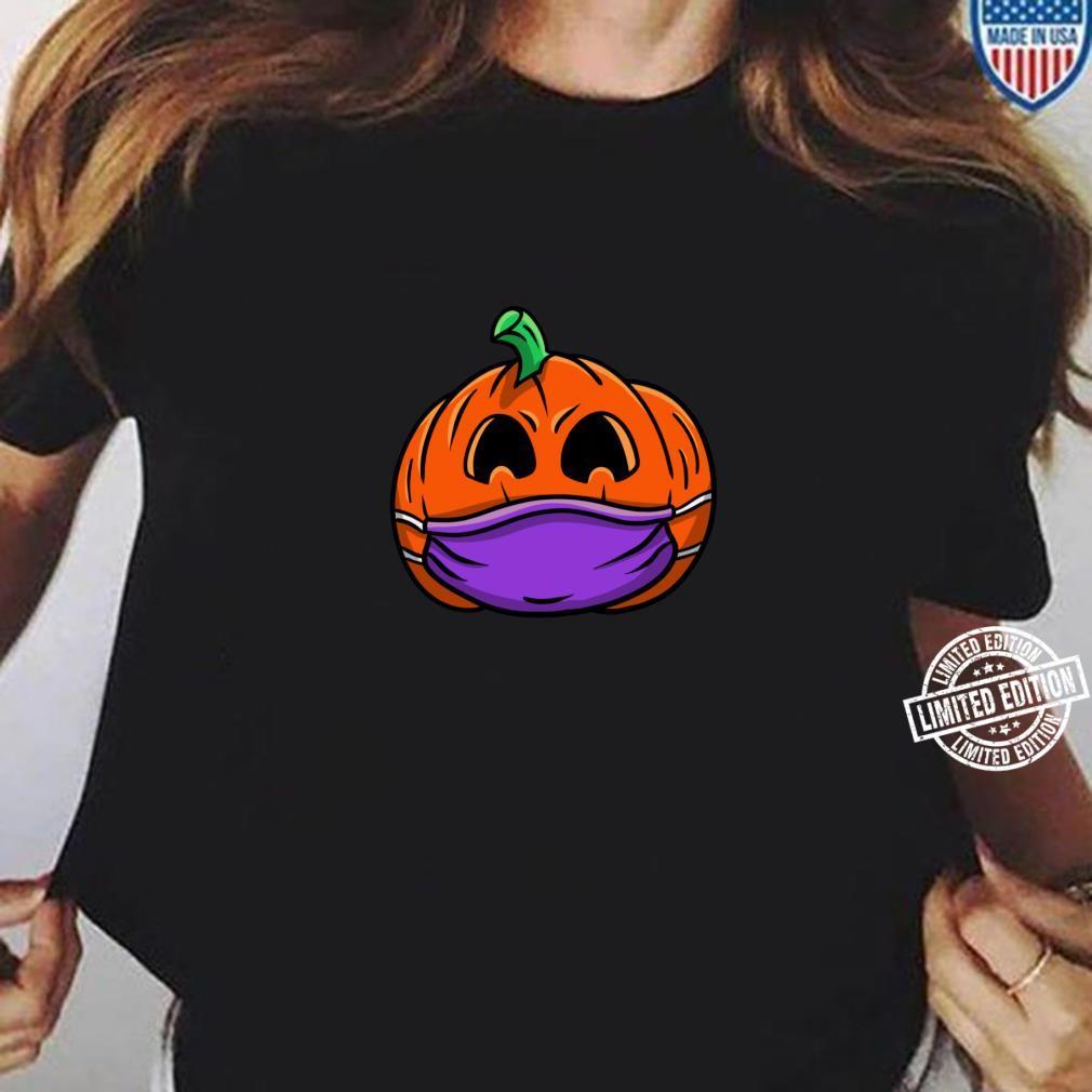 JackOLaterne Kürbismaske soziale Distanzierung Pumpkin Langarmshirt Shirt ladies tee
