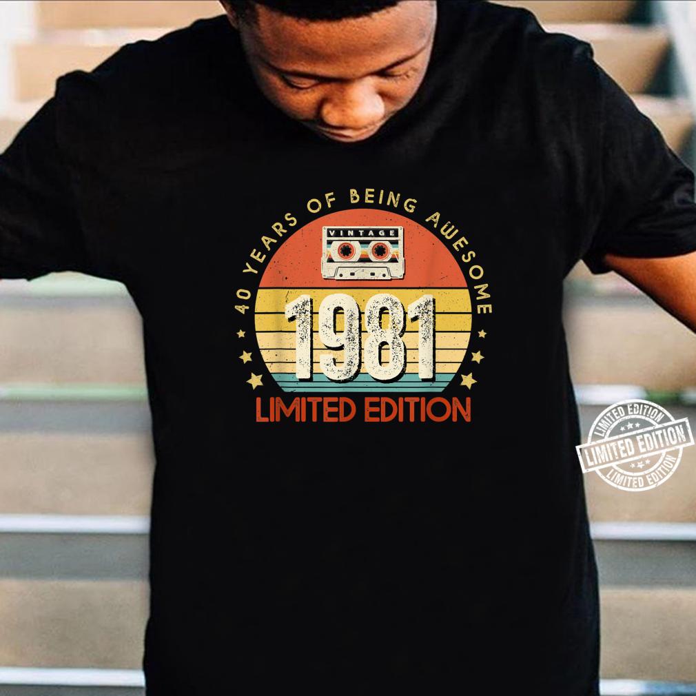 Jahrgang 40.Geburstag Vintage made in 1981 Cassette Shirt