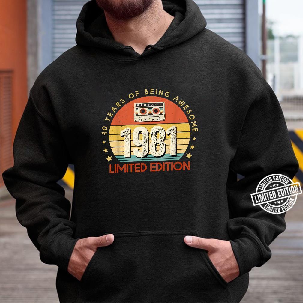 Jahrgang 40.Geburstag Vintage made in 1981 Cassette Shirt hoodie