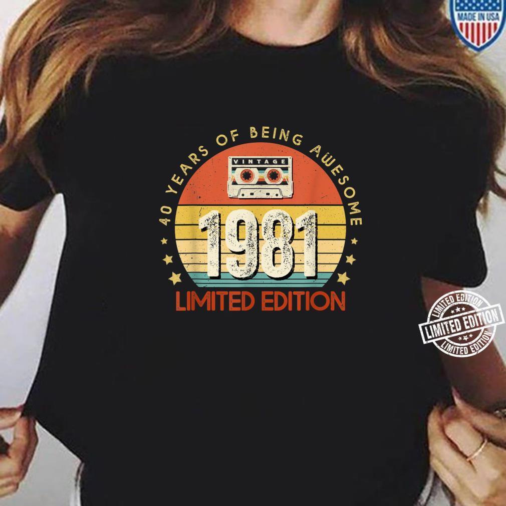 Jahrgang 40.Geburstag Vintage made in 1981 Cassette Shirt ladies tee