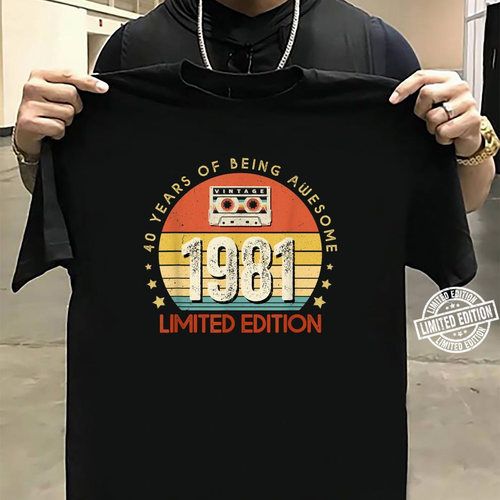 Jahrgang 40.Geburstag Vintage made in 1981 Cassette Shirt sweater