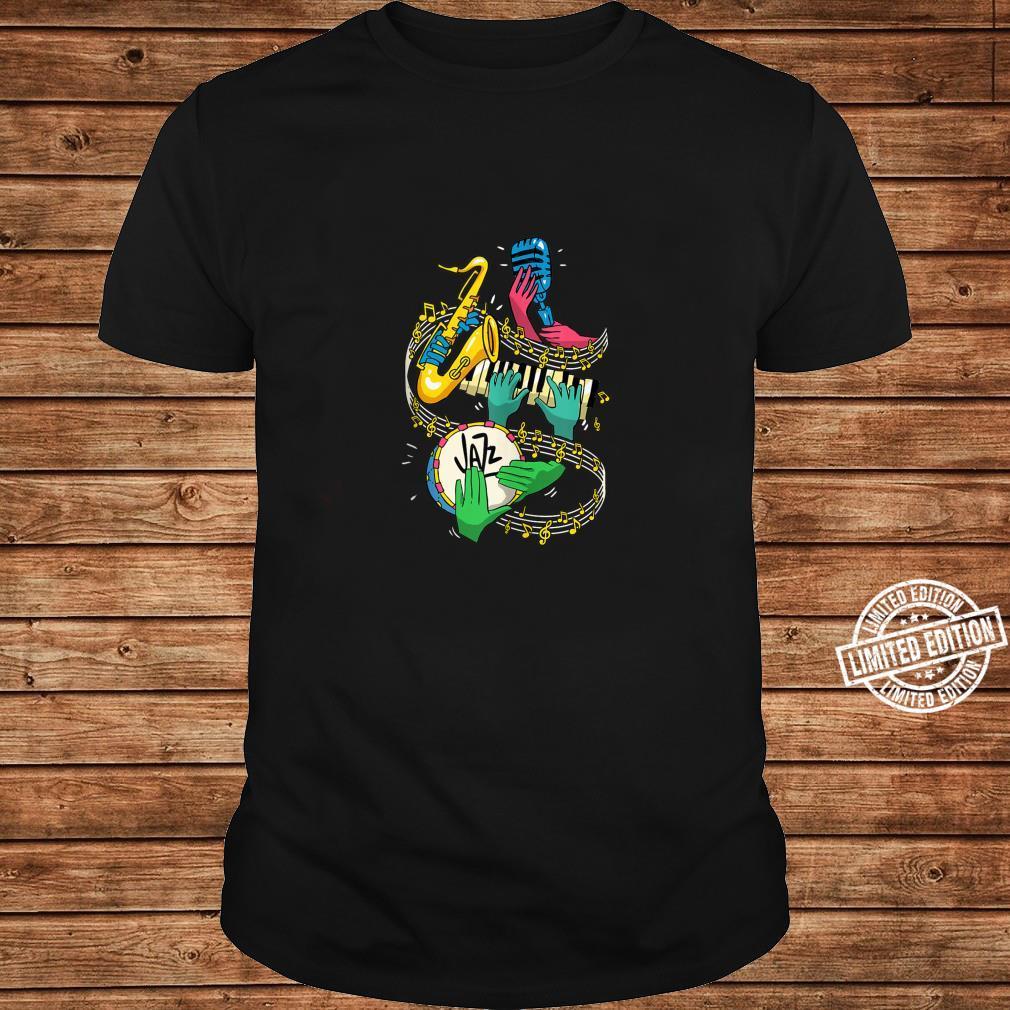 Jazz Hands Saxophone Player Music Singer Shirt long sleeved