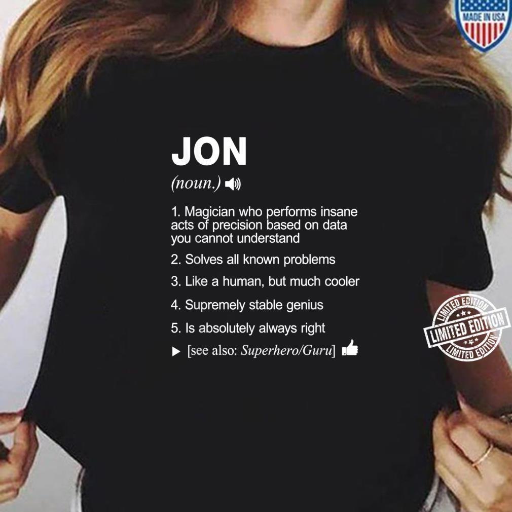 Jon Name Definition Meaning Shirt ladies tee