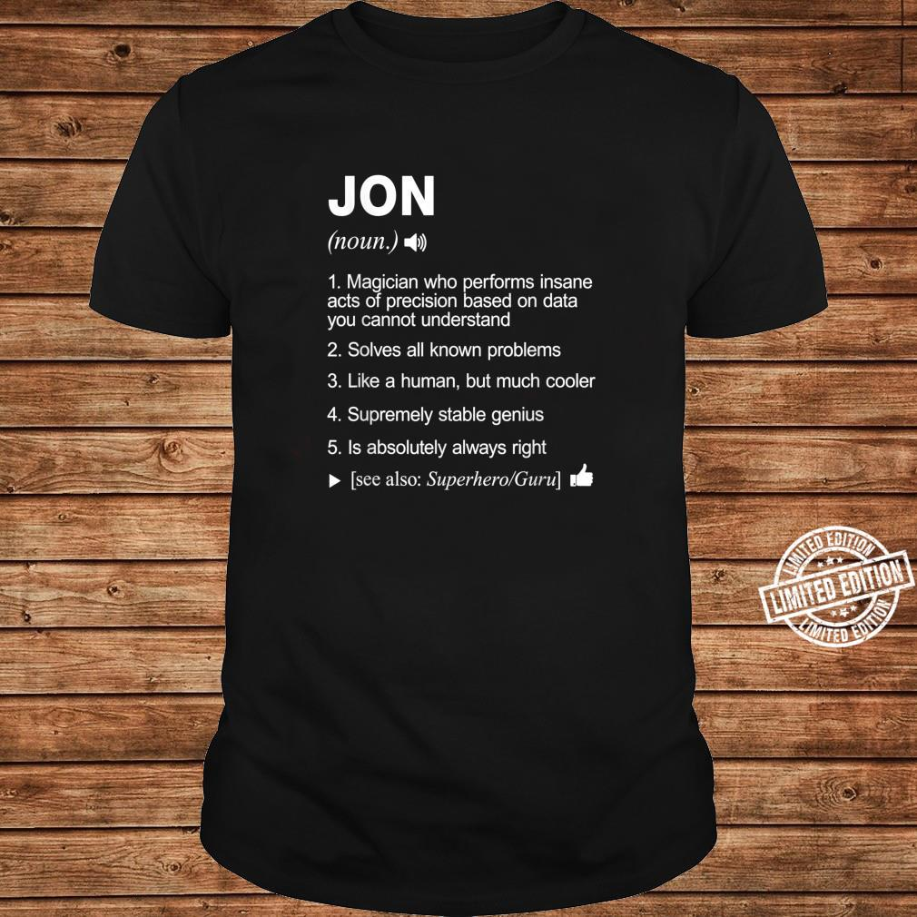 Jon Name Definition Meaning Shirt long sleeved