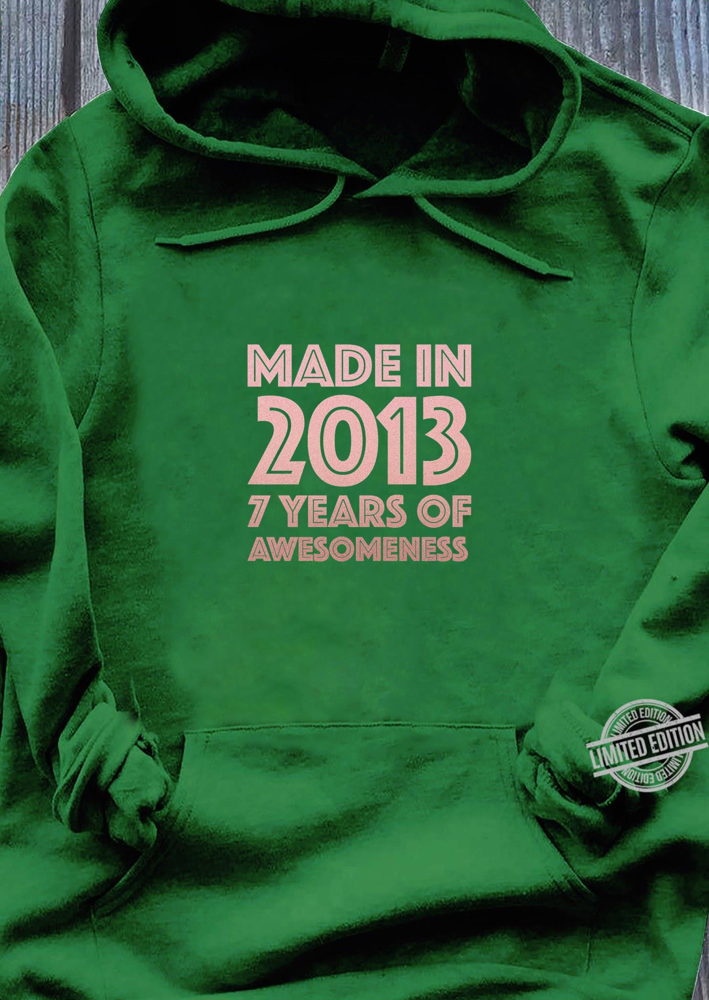 Kids 7th Birthday Shirt Girl Age 7 Year Old 2013 Girls Shirt hoodie