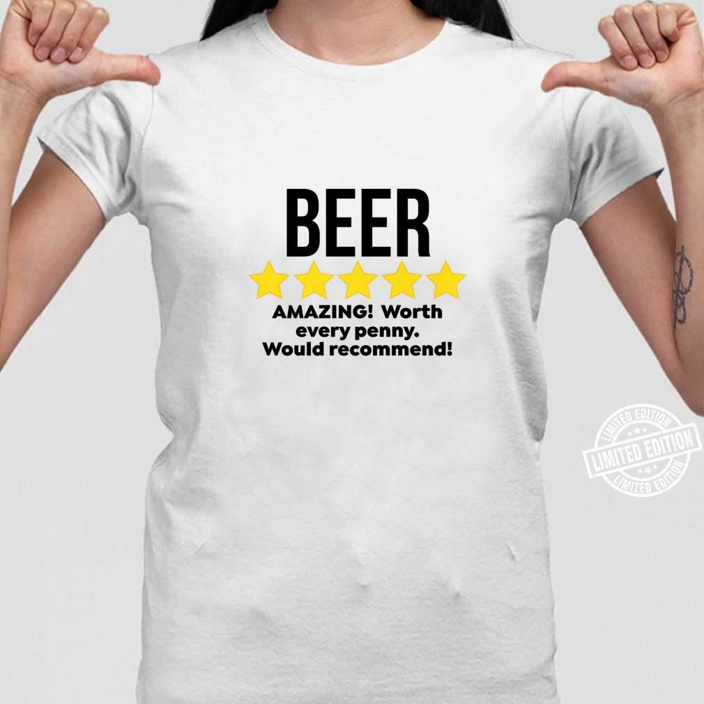 Mens Beer Amazing Partying Drinker Alcohol Drinking Shirt ladies tee