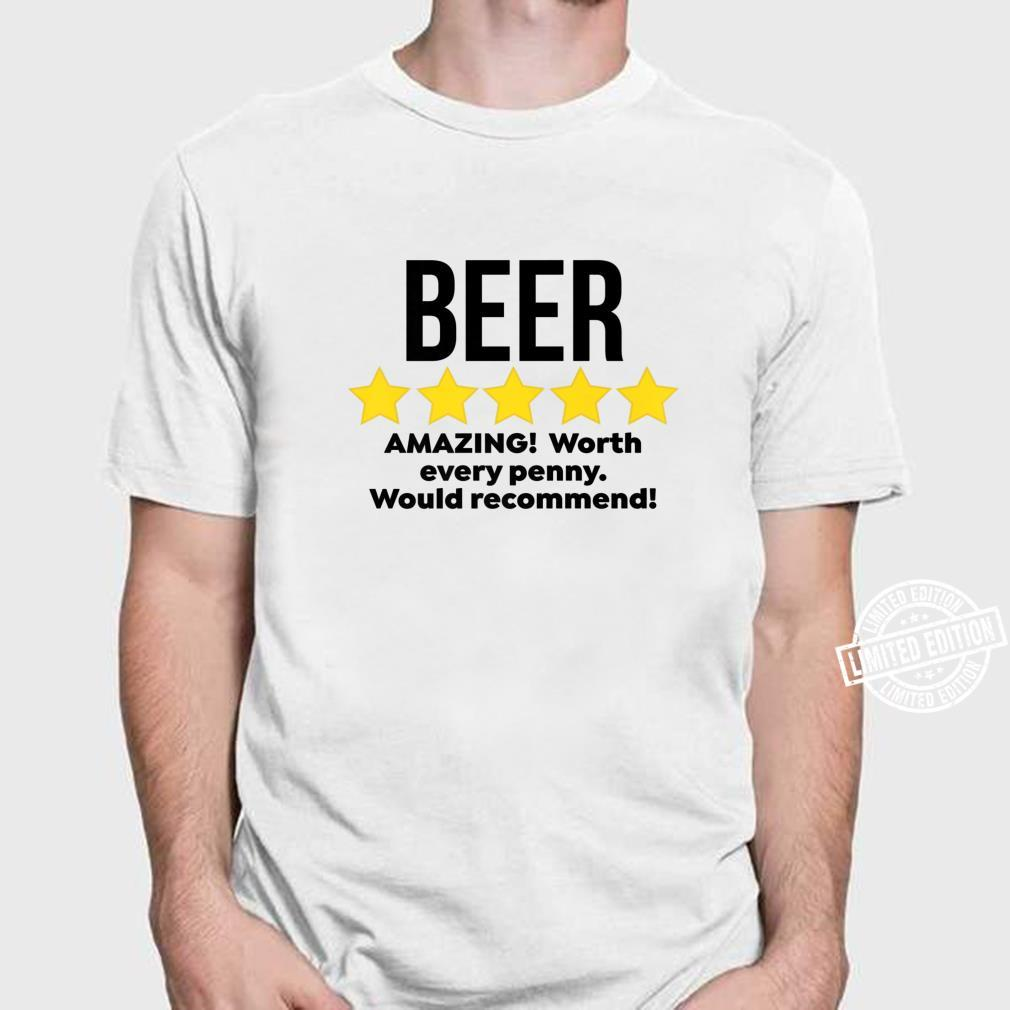 Mens Beer Amazing Partying Drinker Alcohol Drinking Shirt