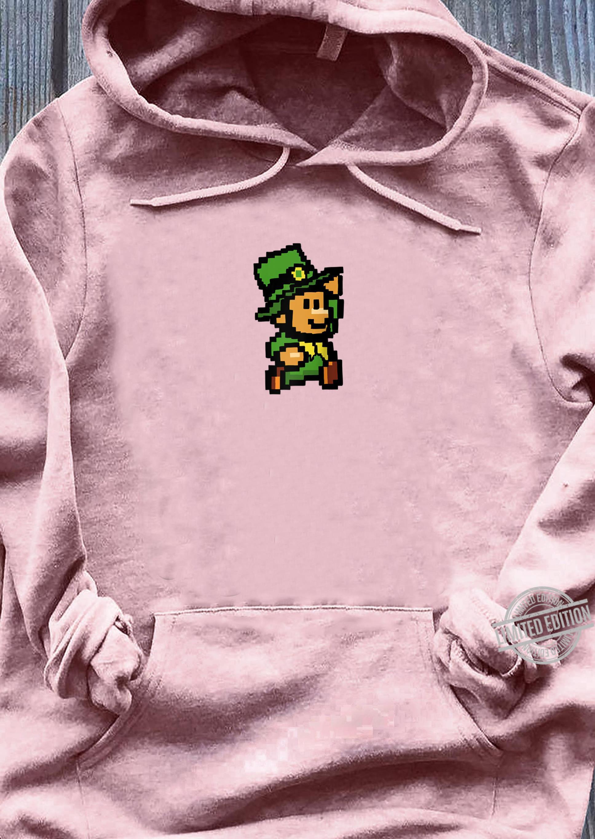Super Leprechaun bro 8bit leprechaun video game Shirt ladies tee