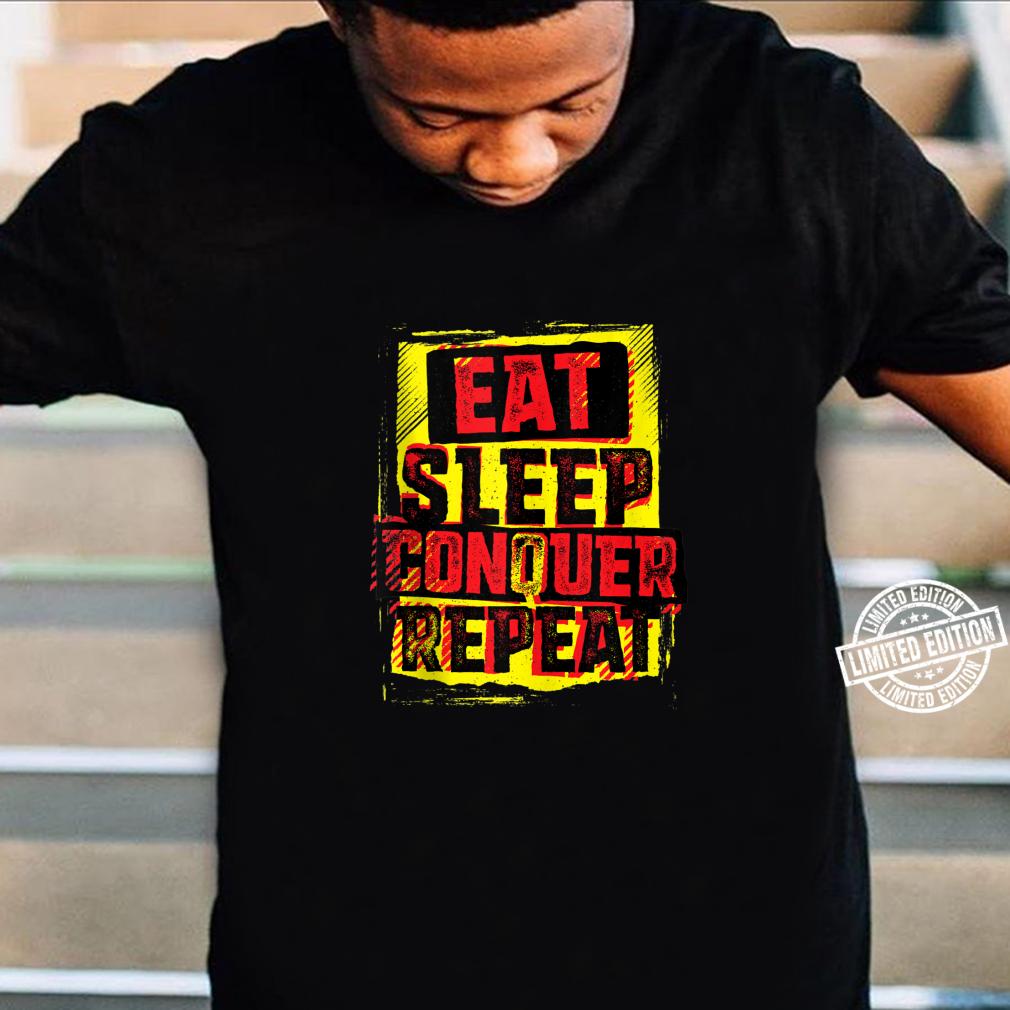 WWE Brock Lesnar Stencil Eat Sleep Shirt