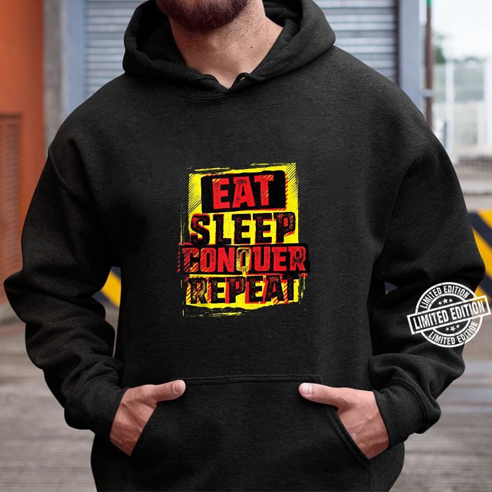 WWE Brock Lesnar Stencil Eat Sleep Shirt hoodie