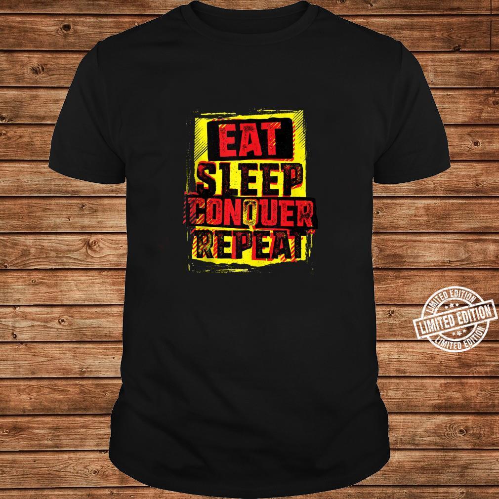 WWE Brock Lesnar Stencil Eat Sleep Shirt ladies tee