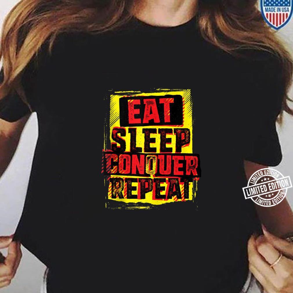 WWE Brock Lesnar Stencil Eat Sleep Shirt long sleeved