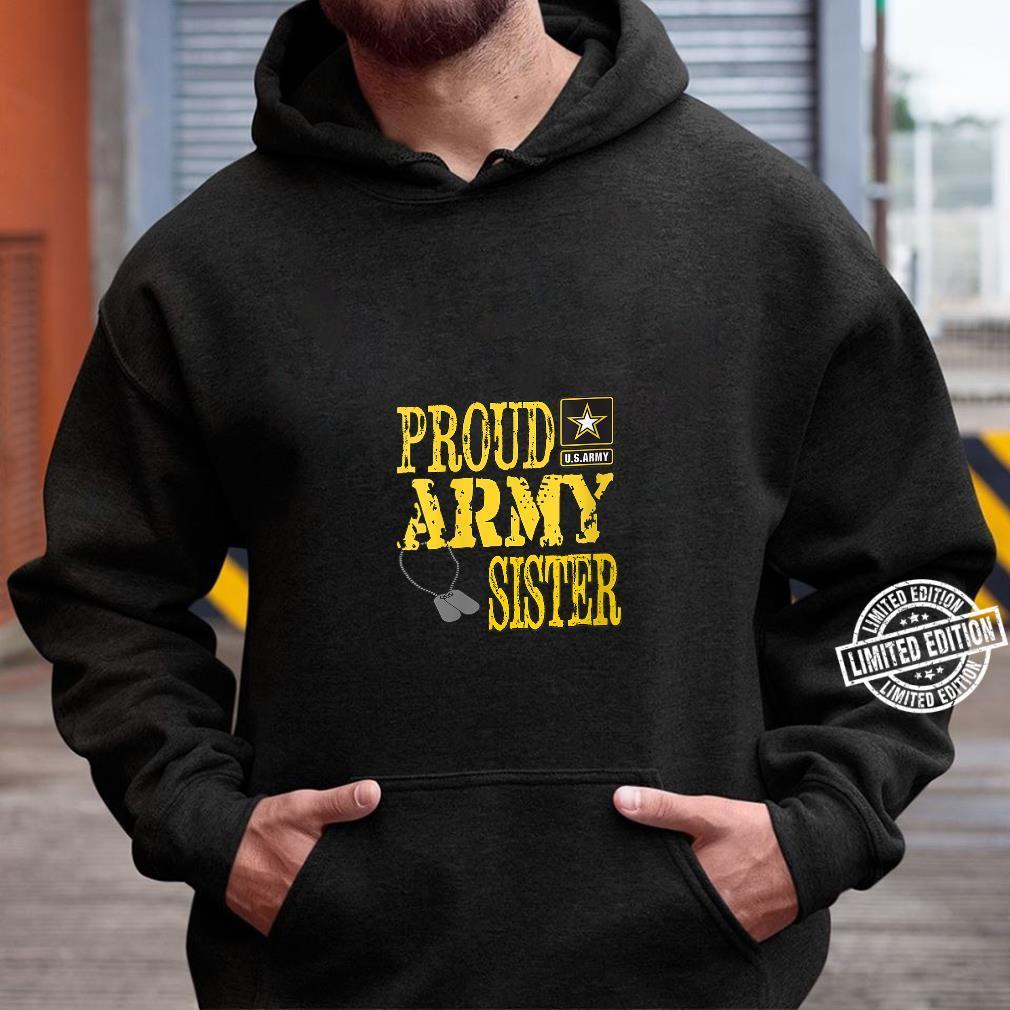 Womens Proud Army Sister Military Pride Shirt hoodie