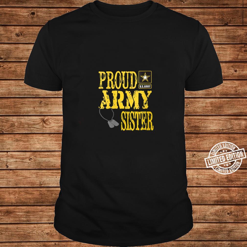 Womens Proud Army Sister Military Pride Shirt ladies tee