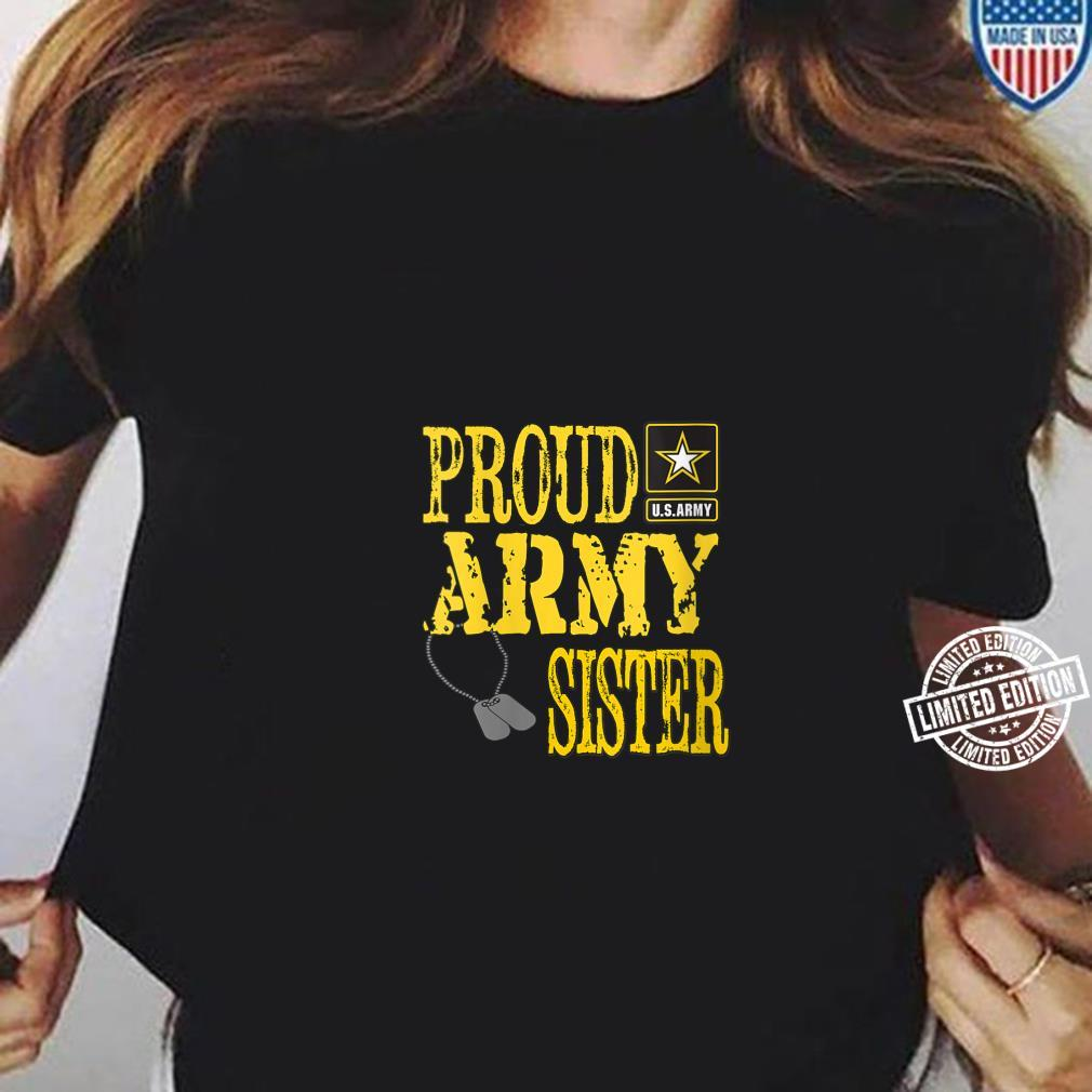 Womens Proud Army Sister Military Pride Shirt long sleeved