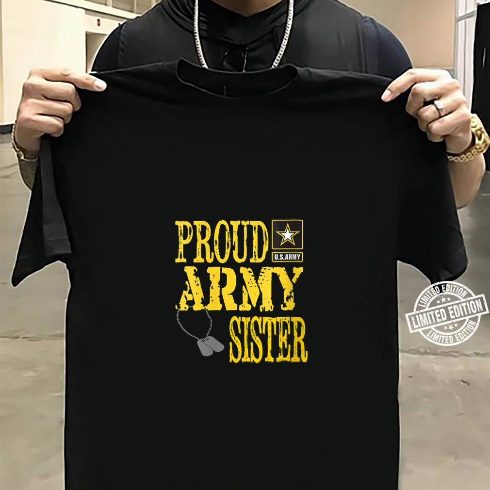 Womens Proud Army Sister Military Pride Shirt sweater